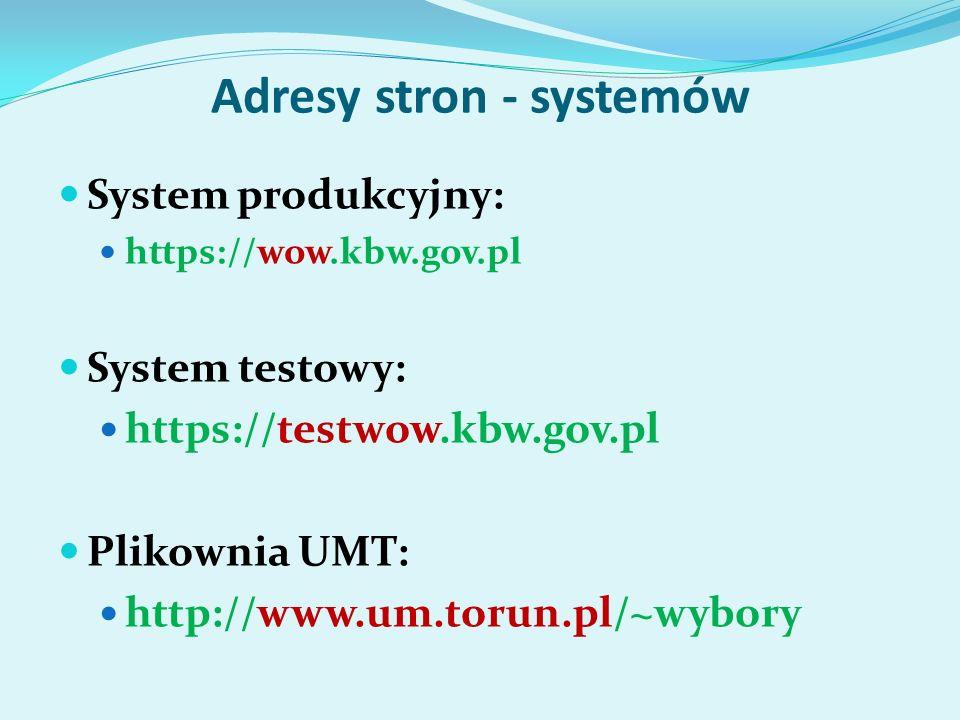 Logowanie się użytkowników do systemu:
