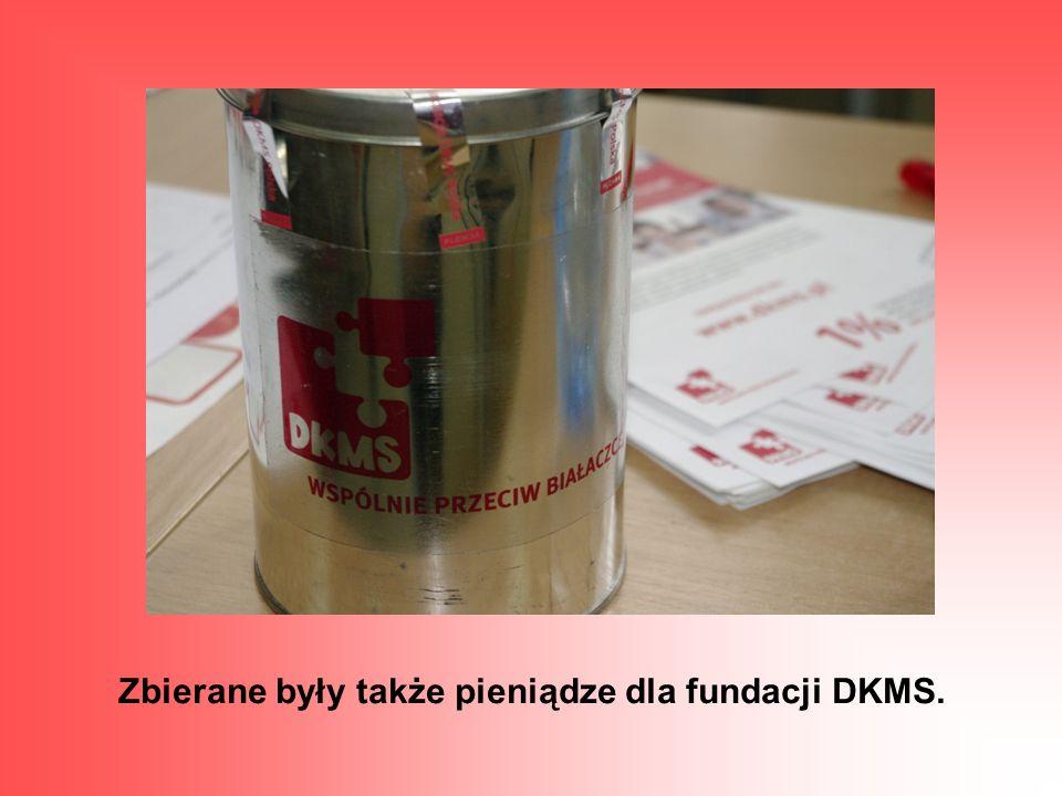 Zbierane były także pieniądze dla fundacji DKMS.