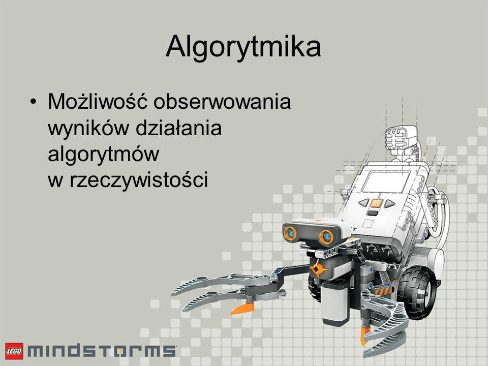 Algorytmika Budowa prostych układów, realizujących np.