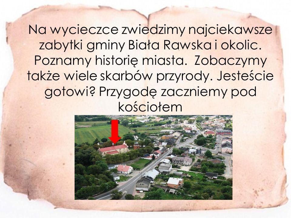 Na wycieczce zwiedzimy najciekawsze zabytki gminy Biała Rawska i okolic.