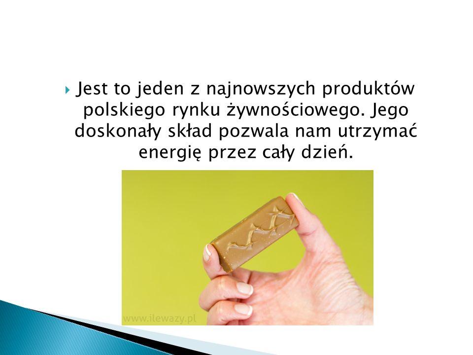  Jest to jeden z najnowszych produktów polskiego rynku żywnościowego. Jego doskonały skład pozwala nam utrzymać energię przez cały dzień.