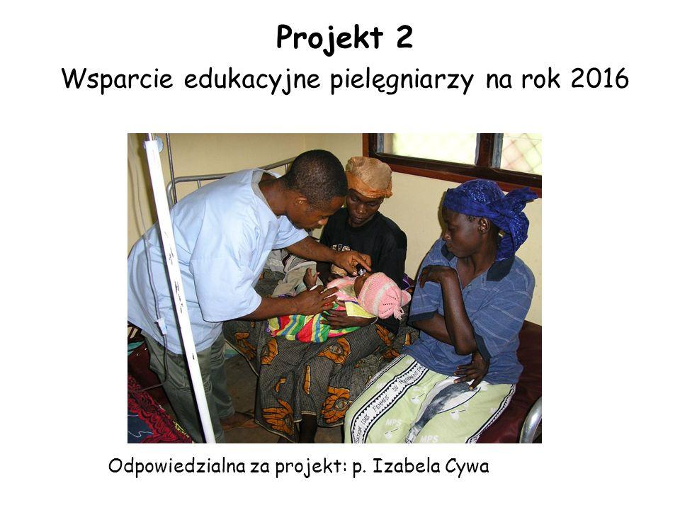 Projekt 2 Wsparcie edukacyjne pielęgniarzy na rok 2016 Odpowiedzialna za projekt: p. Izabela Cywa