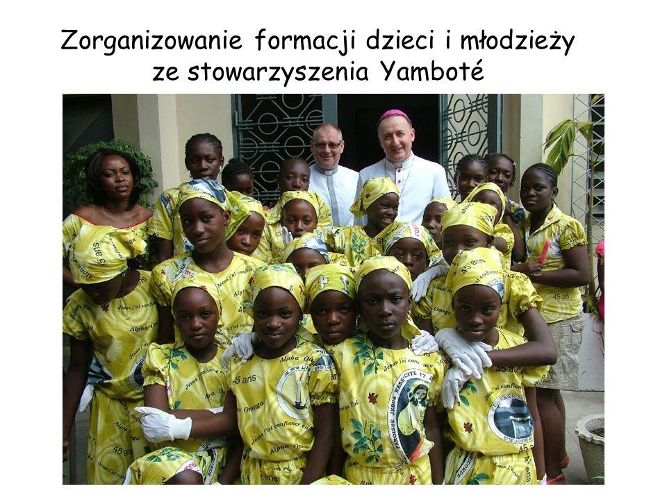 Zorganizowanie formacji dzieci i młodzieży ze stowarzyszenia Yamboté