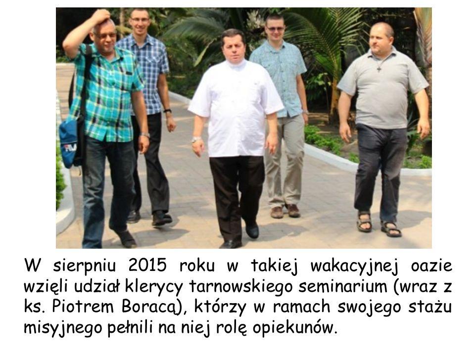 W sierpniu 2015 roku w takiej wakacyjnej oazie wzięli udział klerycy tarnowskiego seminarium (wraz z ks.