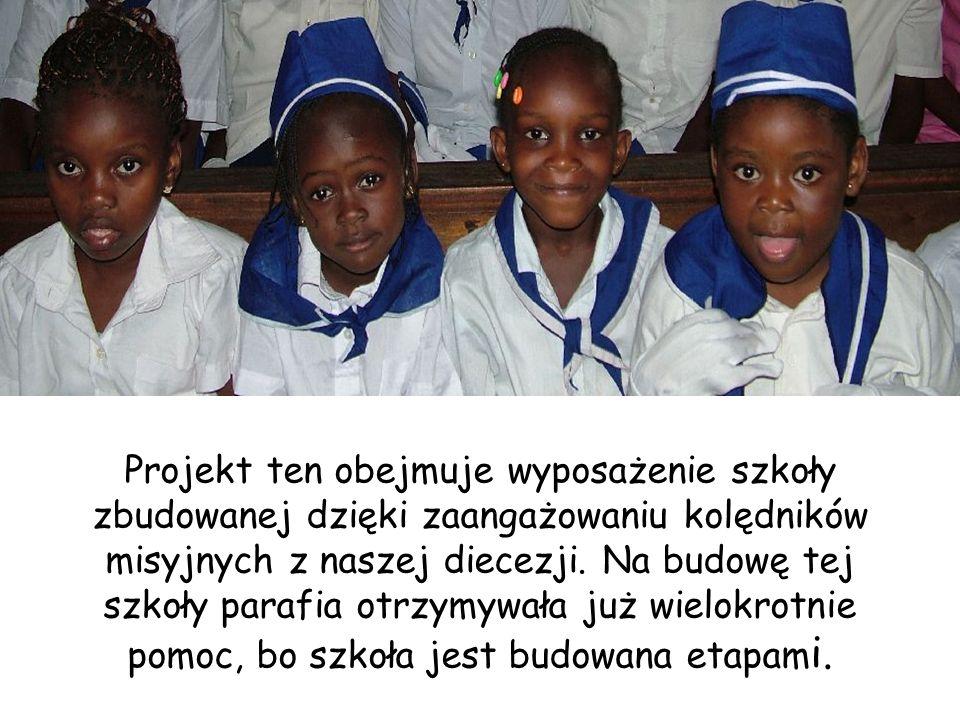 Projekt ten obejmuje wyposażenie szkoły zbudowanej dzięki zaangażowaniu kolędników misyjnych z naszej diecezji.