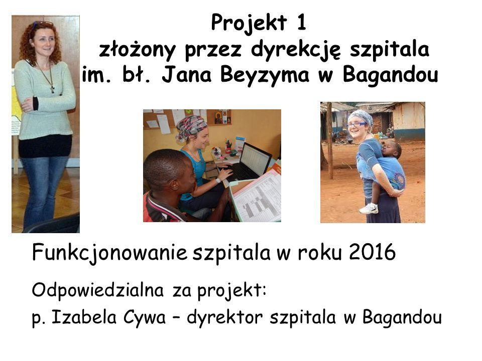 Projekt 1 złożony przez dyrekcję szpitala im. bł.