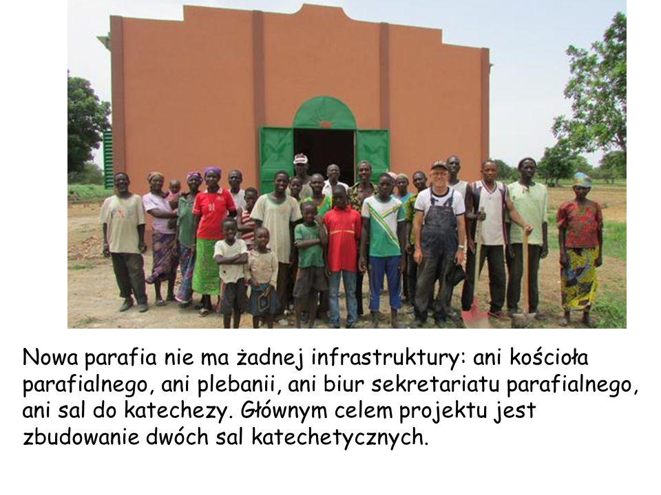 Nowa parafia nie ma żadnej infrastruktury: ani kościoła parafialnego, ani plebanii, ani biur sekretariatu parafialnego, ani sal do katechezy.