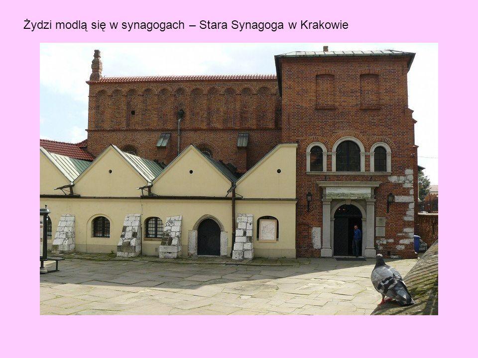 Żydzi modlą się w synagogach – Stara Synagoga w Krakowie