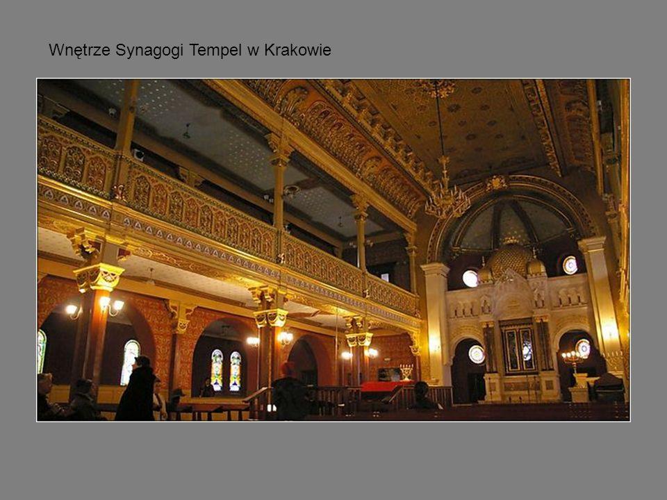 Wnętrze Synagogi Tempel w Krakowie