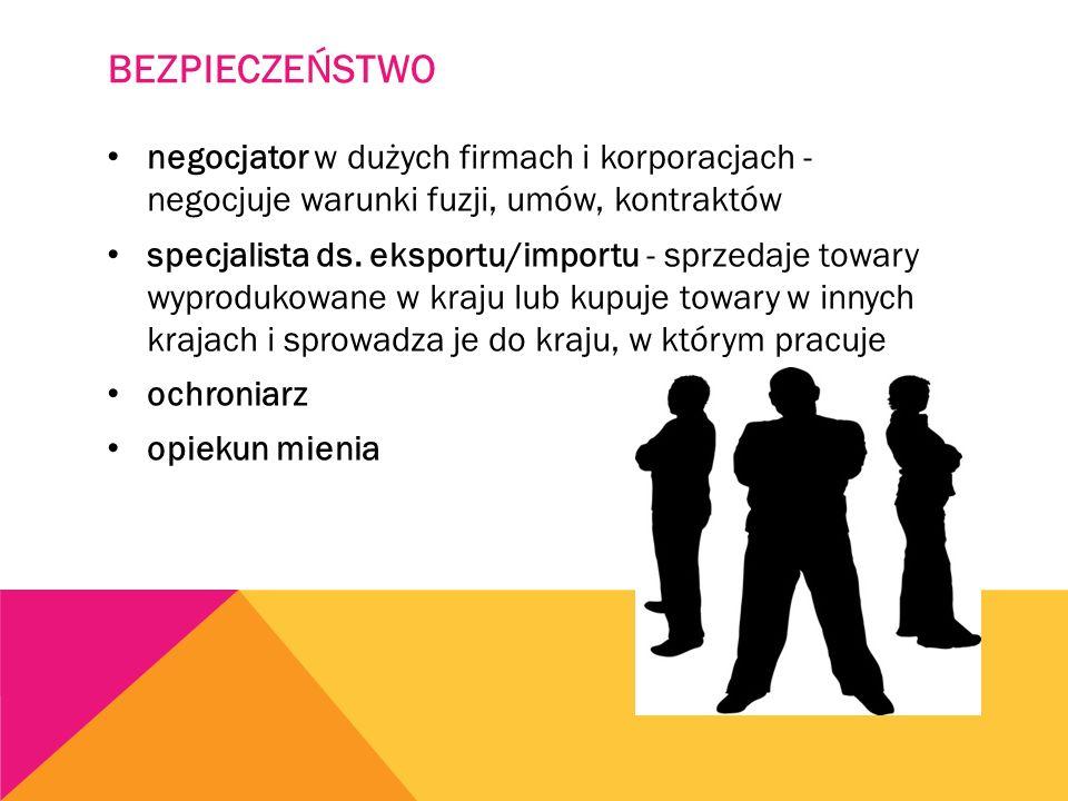 BEZPIECZEŃSTWO negocjator w dużych firmach i korporacjach - negocjuje warunki fuzji, umów, kontraktów specjalista ds.