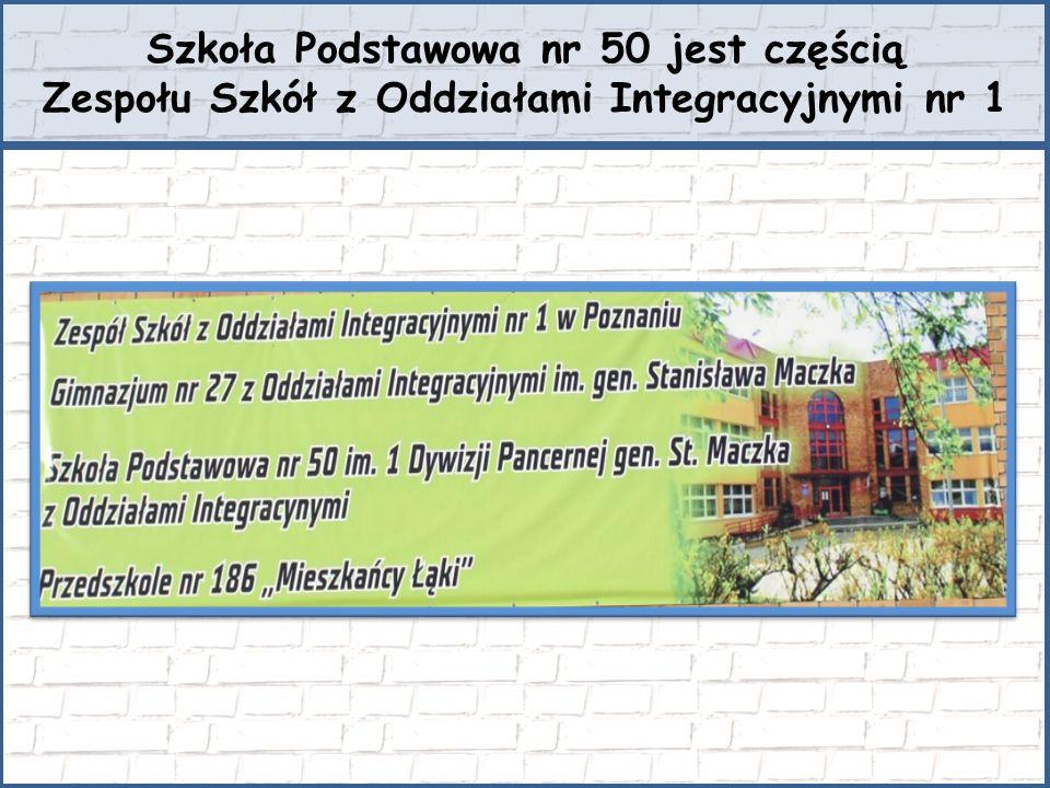 Szkoła Podstawowa nr 50 jest częścią Zespołu Szkół z Oddziałami Integracyjnymi nr 1