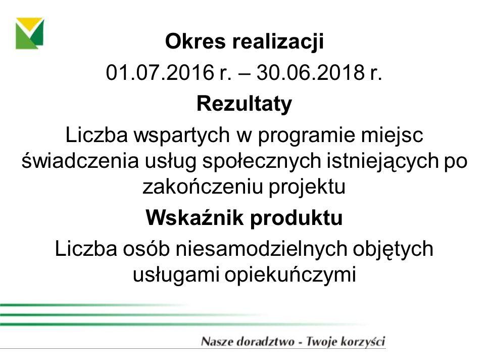 Okres realizacji 01.07.2016 r. – 30.06.2018 r.