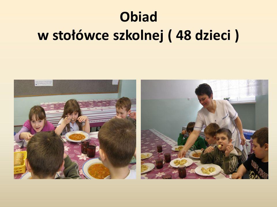Obiad w stołówce szkolnej ( 48 dzieci )