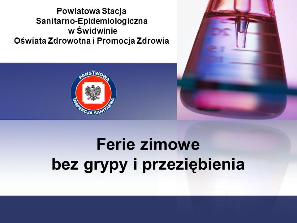 Ferie zimowe bez grypy i przeziębienia Powiatowa Stacja Sanitarno-Epidemiologiczna w Świdwinie Oświata Zdrowotna i Promocja Zdrowia