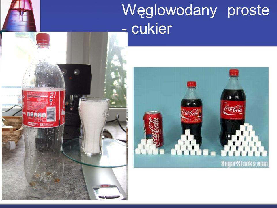 Węglowodany proste - cukier