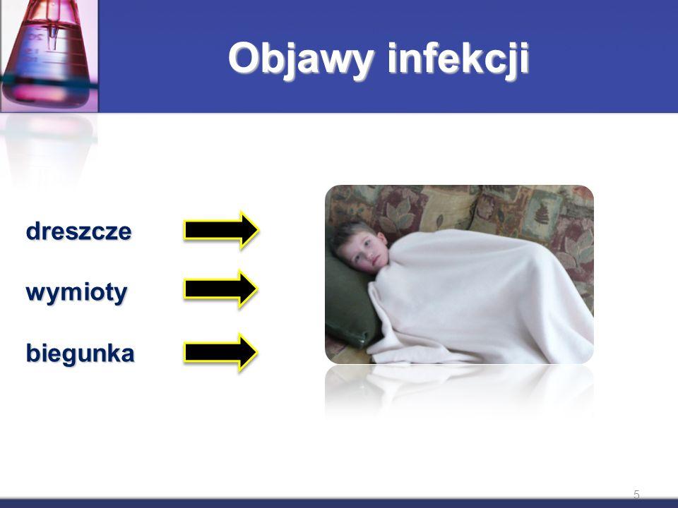 Objawy infekcji dreszczewymiotybiegunka 5