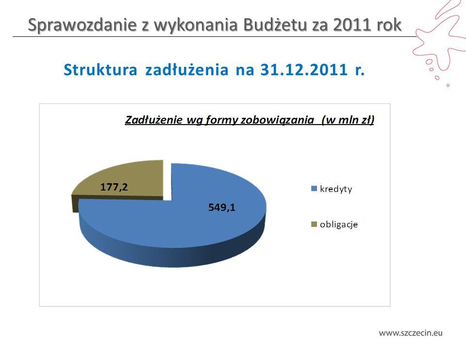 Sprawozdanie z wykonania Budżetu za 2011 rok Wydatki bieżące – gospodarka komunalna