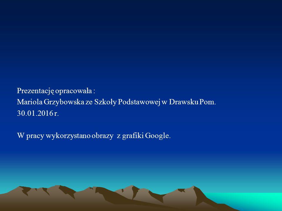Prezentację opracowała : Mariola Grzybowska ze Szkoły Podstawowej w Drawsku Pom. 30.01.2016 r. W pracy wykorzystano obrazy z grafiki Google.