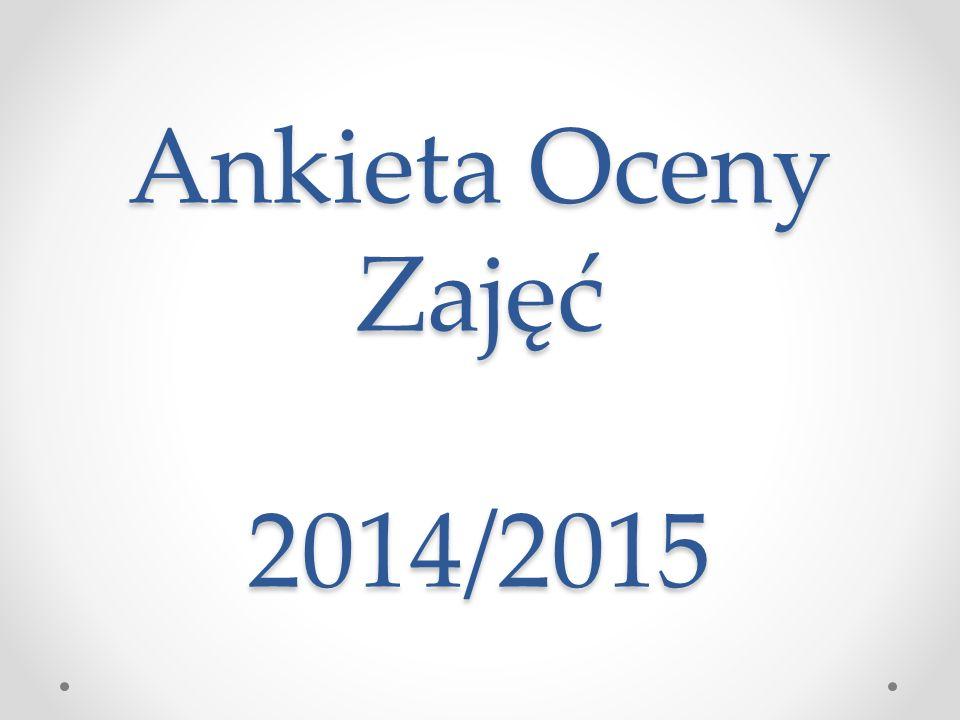 Ankieta Oceny Zajęć 2014/2015