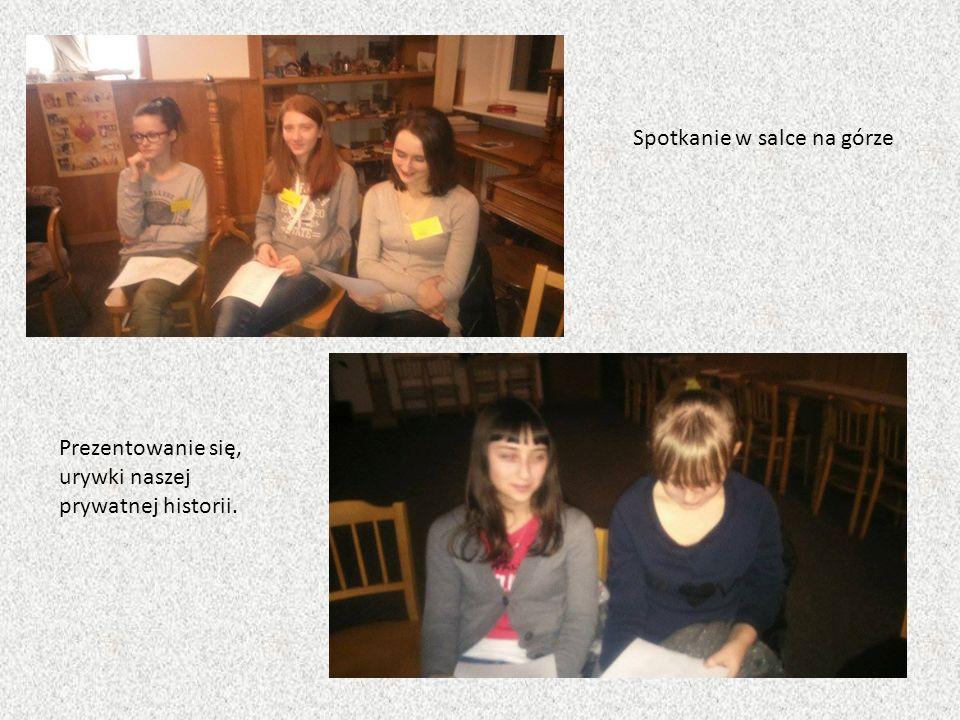Spotkanie w salce na górze Prezentowanie się, urywki naszej prywatnej historii.