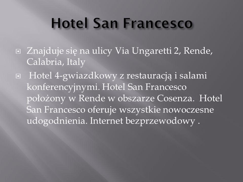  Znajduje się na ulicy Via Ungaretti 2, Rende, Calabria, Italy  Hotel 4-gwiazdkowy z restauracją i salami konferencyjnymi. Hotel San Francesco położ