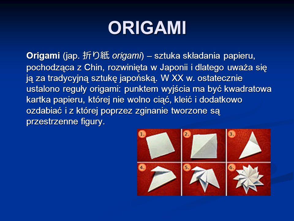 ORIGAMI Origami (jap.