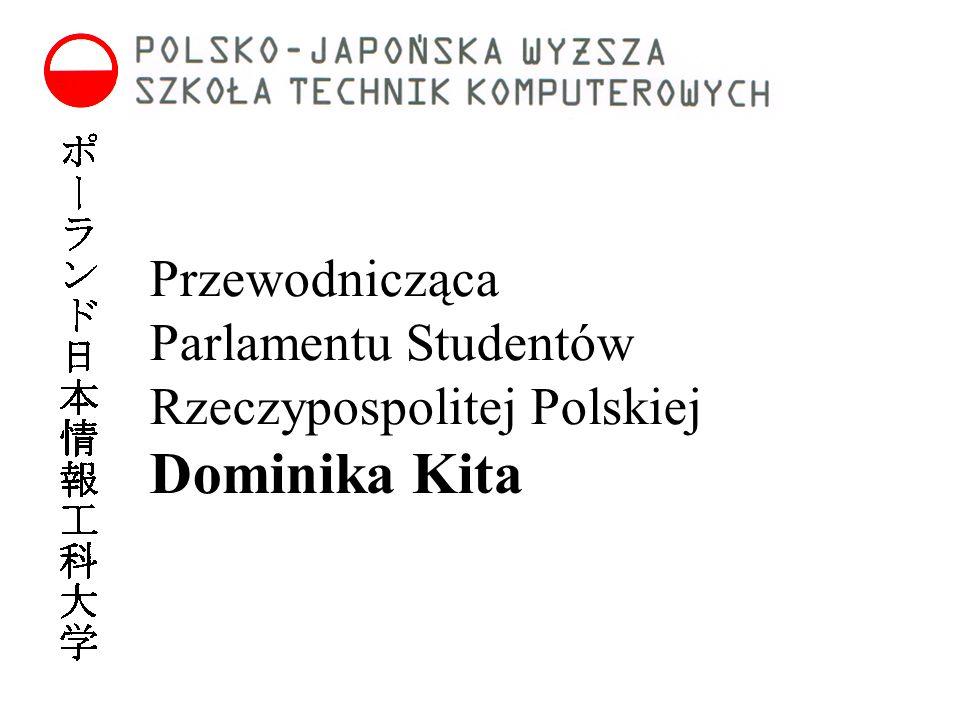 Przewodnicząca Parlamentu Studentów Rzeczypospolitej Polskiej Dominika Kita