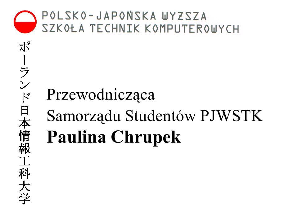 Przewodnicząca Samorządu Studentów PJWSTK Paulina Chrupek