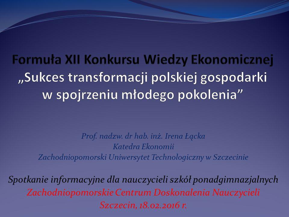 Organizator, temat i cele konkursu XII edycja Konkursu Wiedzy Ekonomicznej jest organizowana przez Wydział Ekonomiczny Zachodniopomorskiego Uniwersytetu Technologicznego w Szczecinie.
