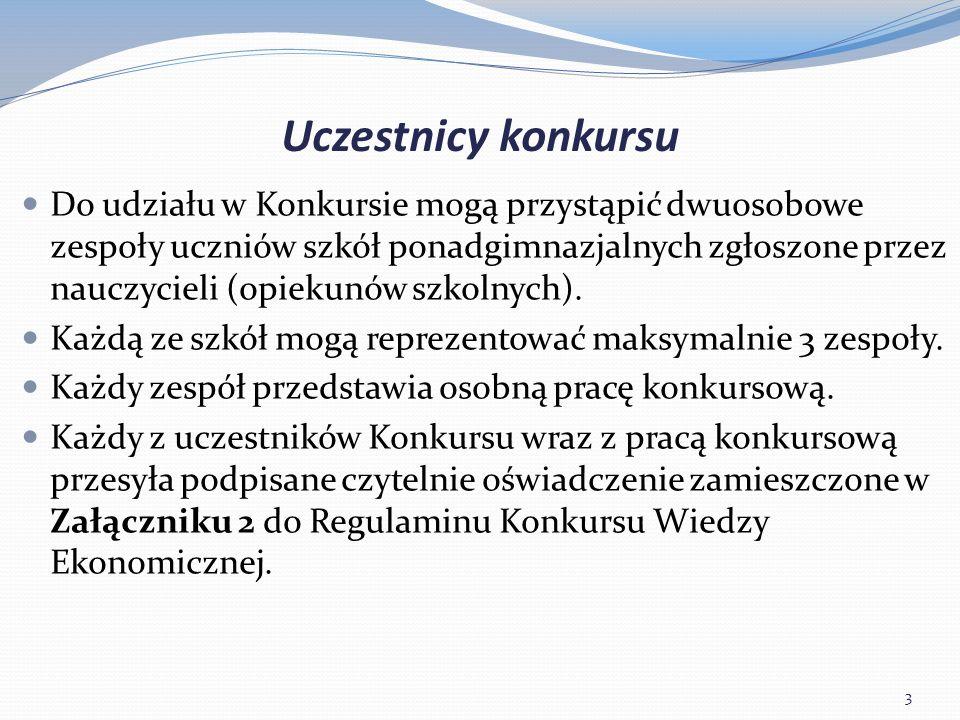 Harmonogram i regulamin konkursu Nadsyłanie zgłoszeń i dostarczenie prac konkursowych do I etapu – do 1 marca 2016 r.