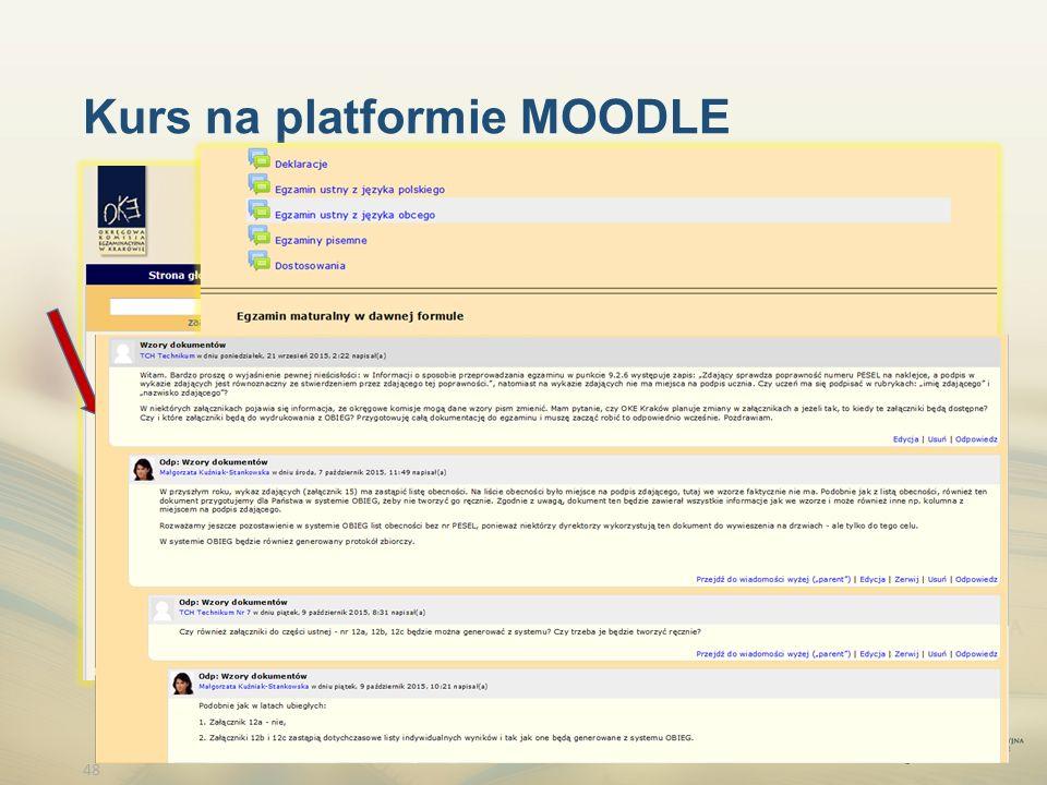 48 Kurs na platformie MOODLE