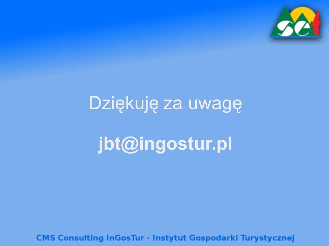 Dziękuję za uwagę jbt@ingostur.pl