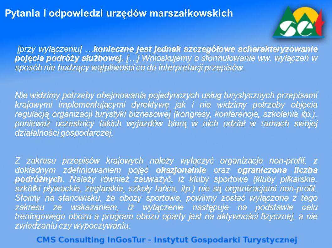 Pytania i odpowiedzi urzędów marszałkowskich [przy wyłączeniu] …konieczne jest jednak szczegółowe scharakteryzowanie pojęcia podróży służbowej. […] Wn