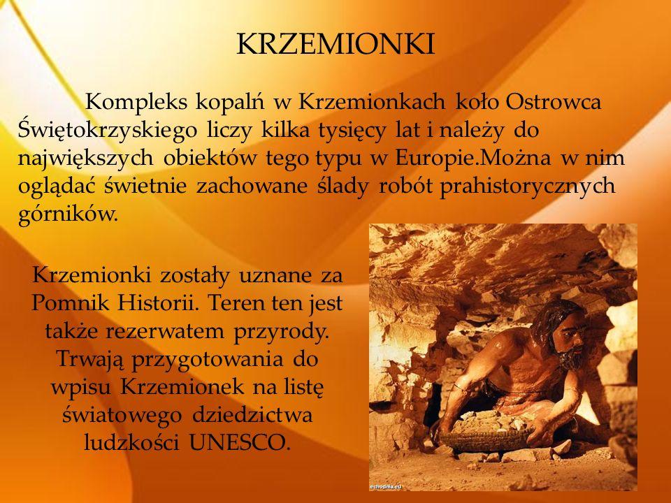 KRZEMIONKI Kompleks kopalń w Krzemionkach koło Ostrowca Świętokrzyskiego liczy kilka tysięcy lat i należy do największych obiektów tego typu w Europie