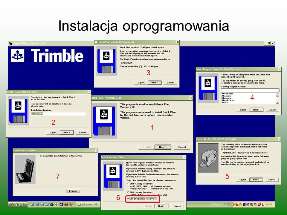 Instalacja oprogramowania 1 3 2 4 5 6 7