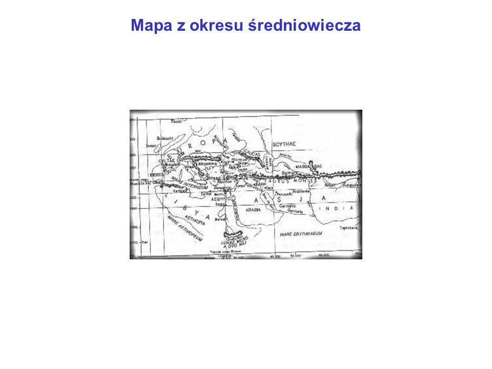 Mapa z okresu średniowiecza
