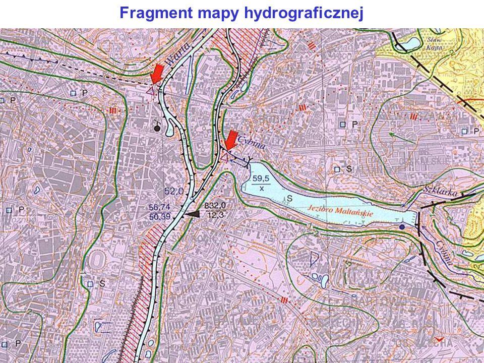 Fragment mapy hydrograficznej