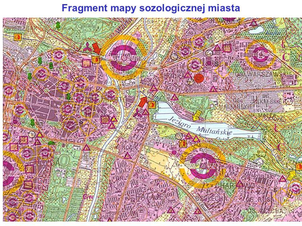 Fragment mapy sozologicznej miasta