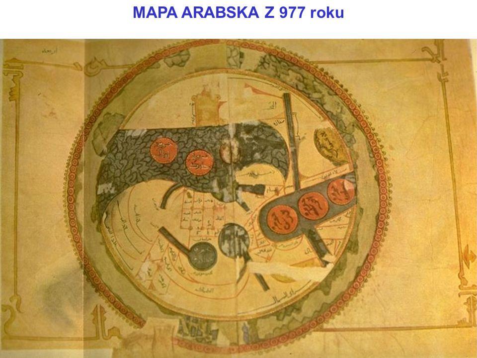 MAPA ARABSKA Z 977 roku