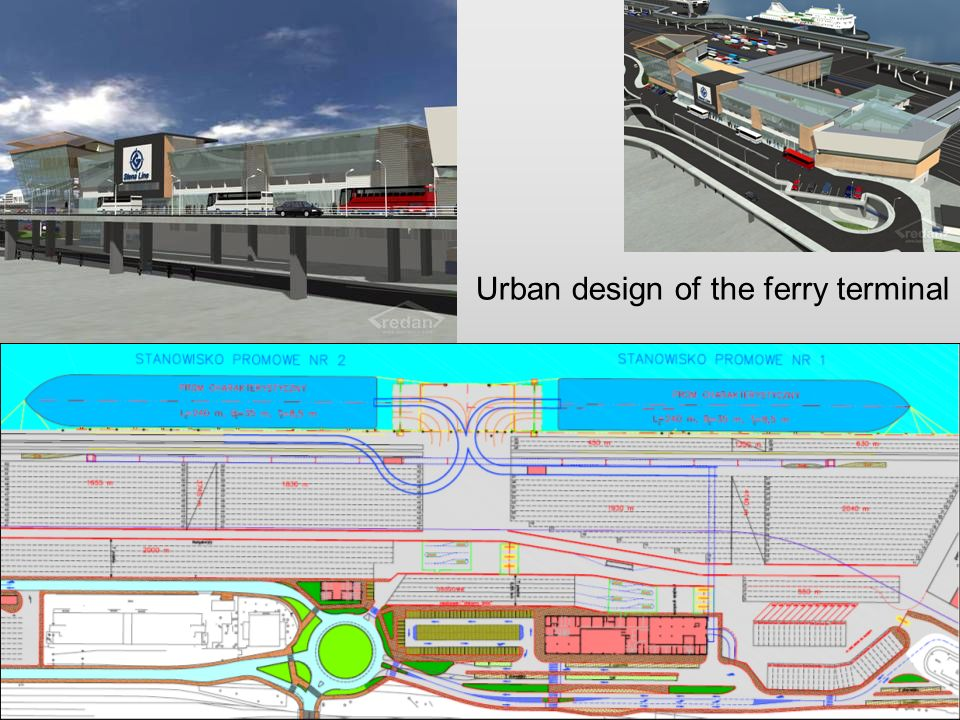 Urban design of the ferry terminal