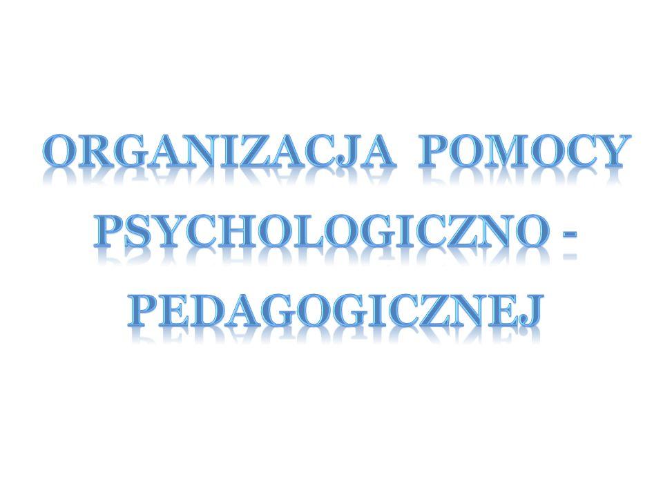 Pomoc psychologiczno-pedagogiczna udzielana uczniowi w przedszkolu, szkole i placówce polega na rozpoznawaniu i zaspokajaniu indywidualnych potrzeb rozwojowych i edukacyjnych ucznia, wynikających w szczególności: 1) z niepełnosprawności; 2) z niedostosowania społecznego; 3) z zagrożenia niedostosowaniem społecznym; 4) ze szczególnych uzdolnień; 5) ze specyficznych trudności w uczeniu się; 6) z zaburzeń komunikacji językowej;