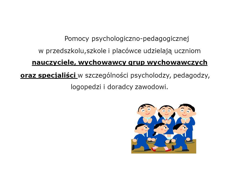4 ) zakres, w którym uczeń wymaga pomocy psychologiczno-pedagogicznej z uwagi na indywidualne potrzeby rozwojowe i edukacyjne oraz możliwości psychofizyczne; 5) zalecane przez zespół formy, sposoby i okresy udzielania pomocy psychologiczno- pedagogicznej; 6) ustalone przez dyrektora przedszkola lub szkoły formy, sposoby i okresy udzielania pomocy psychologiczno-pedagogicznej oraz wymiar godzin, w którym poszczególne formy pomocy będą realizowane; 7) ocenę efektywności pomocy psychologiczno-pedagogicznej; 8) terminy spotkań zespołu; 9) podpisy osób biorących udział w poszczególnych spotkaniach zespołu.