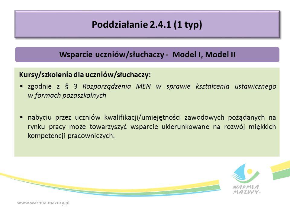 Kursy/szkolenia dla uczniów/słuchaczy:  zgodnie z § 3 Rozporządzenia MEN w sprawie kształcenia ustawicznego w formach pozaszkolnych  nabyciu przez u
