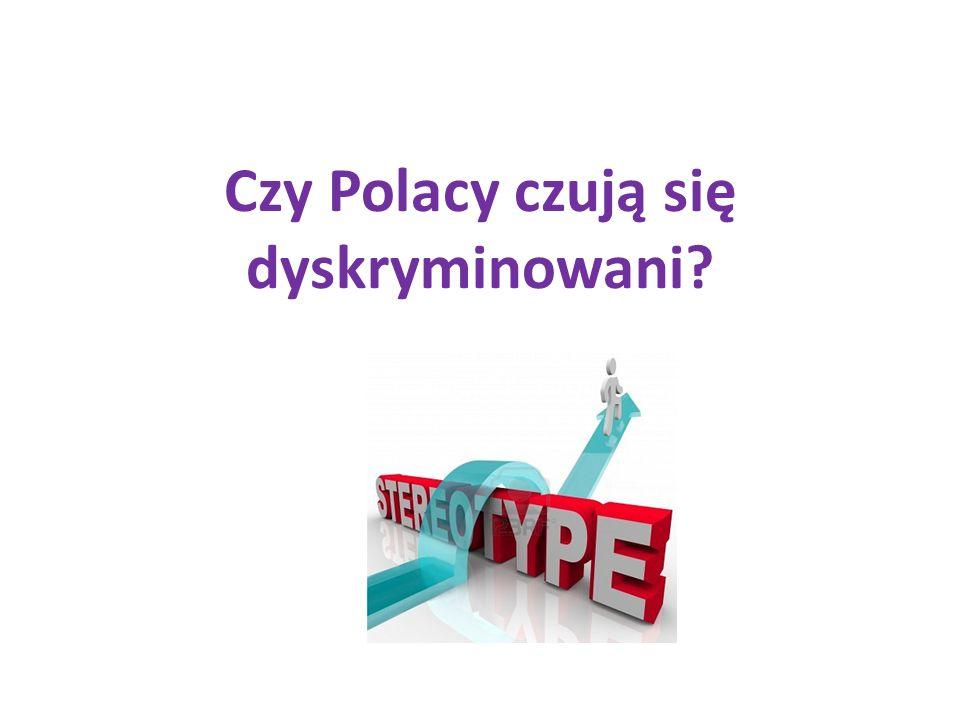 Czy Polacy czują się dyskryminowani