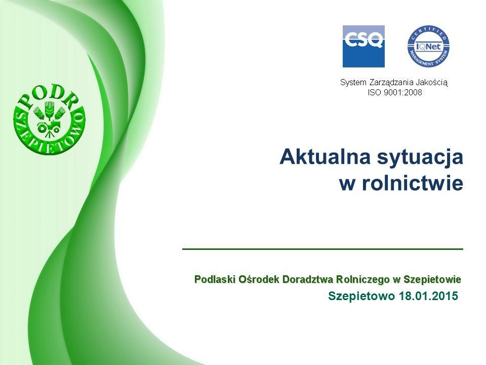 Ceny żywca wieprzowego w województwie podlaskim: - średnia cena żywca wieprzowego w województwie podlaskim w okresie 03.01- 10.01.2016 r.