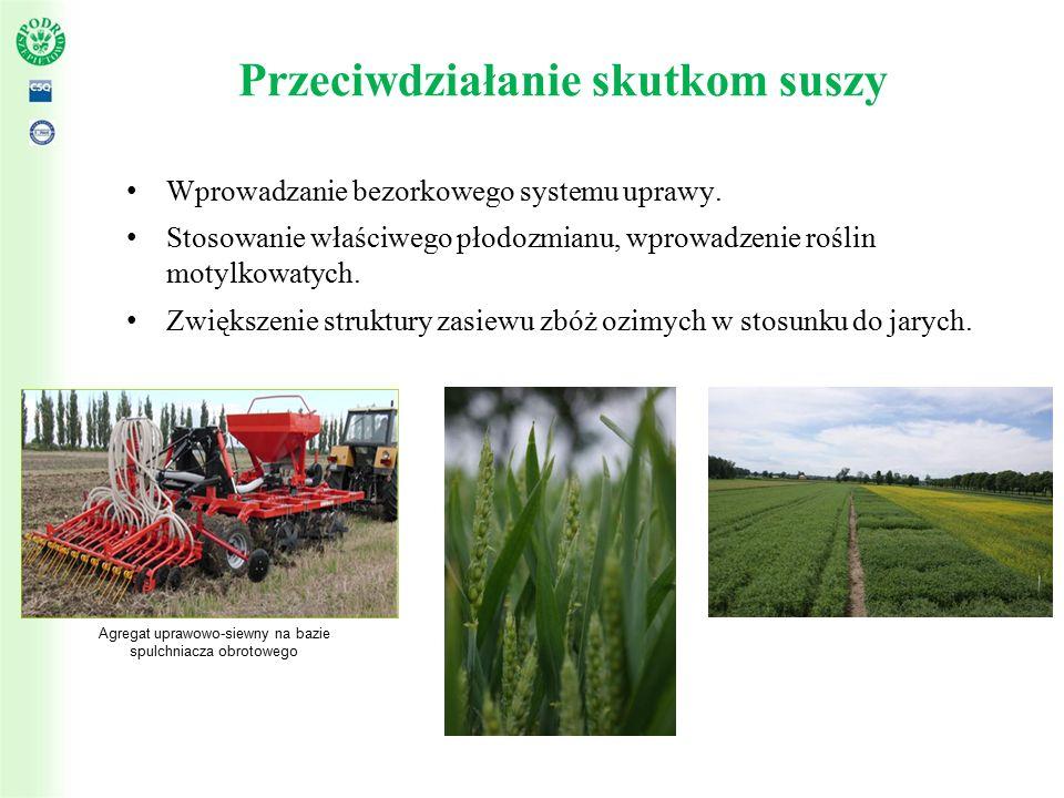 Przeciwdziałanie skutkom suszy Wprowadzanie bezorkowego systemu uprawy.