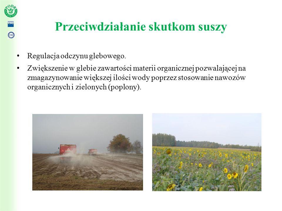 Przeciwdziałanie skutkom suszy Regulacja odczynu glebowego.