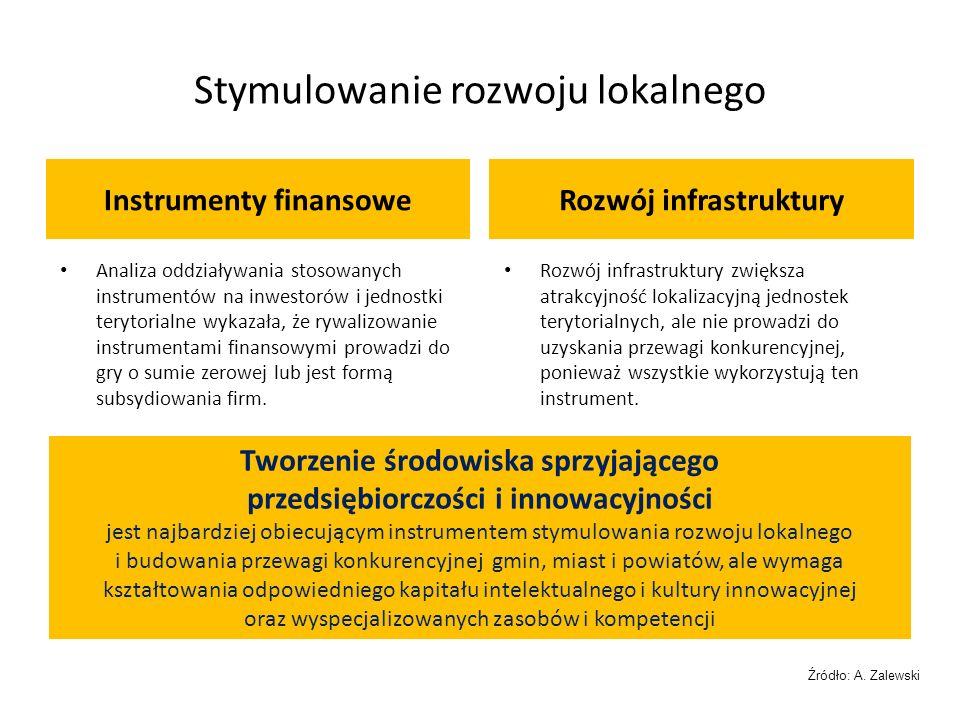Stymulowanie rozwoju lokalnego Instrumenty finansoweRozwój infrastruktury Analiza oddziaływania stosowanych instrumentów na inwestorów i jednostki ter
