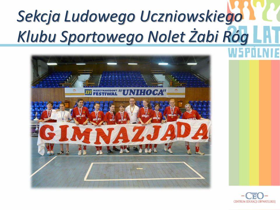 Sekcja Ludowego Uczniowskiego Klubu Sportowego Nolet Żabi Róg