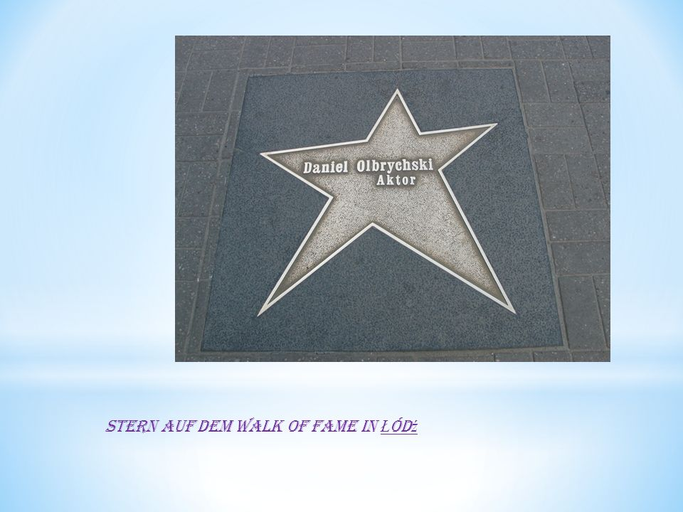 Stern auf dem Walk of Fame in Ł ód ź